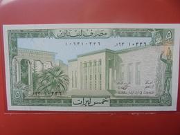 LIBAN 5 LIVRES 1964-86 PEU CIRCULER/NEUF - Liban