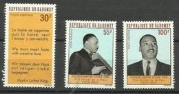 Dahomey - 1968 Martin Luther King  MLH *   SG 328-30   Sc C71-3 - Benin - Dahomey (1960-...)