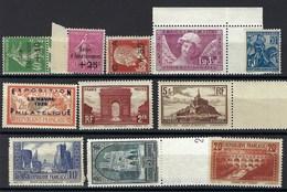 France, Année Complète, 1929 ** N° 253 à 262 ** TB - ....-1939