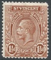 St Vincent. 1921-32 KGV. 1½d MH. Mult Script CA W/M. SG 132b - St.Vincent (...-1979)
