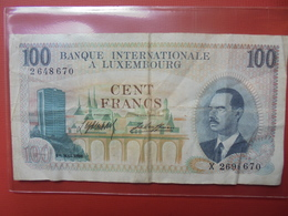 LUXEMBOURG 100 FRANCS 1968 CIRCULER - Luxembourg