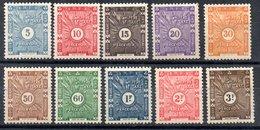 Côte Française Des Somalis Franz. Somaliküste Porto Y&T T 11* - T 20* - Französich-Somaliküste (1894-1967)