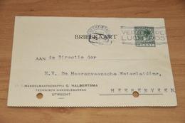 42-     BEDRIJFSKAART, HANDELSMAATSCHAPPIJ G. HALBERTSMA - UTRECHT - 1929 - Andere