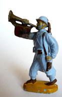 FIGURINE BEFFOID WWI POILU TROMPETTE CASQUE ADRIEN BLEU (2) - Figurines