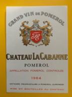 10219 - Château La Cabanne 1964 Pomerol - Bordeaux