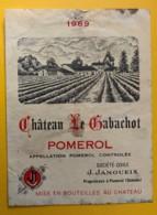 10223 - Château Le Gabachot 1969 Pomerol - Bordeaux