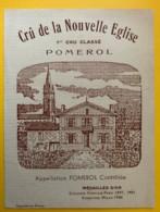 10224 - Crû De La Nouvelle Eglise  Pomerol - Bordeaux