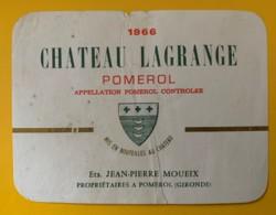 10225 - Château Lagrange 1966  Pomerol - Bordeaux
