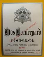 10229 - Clos Beauregard 1976  Pomerol - Bordeaux