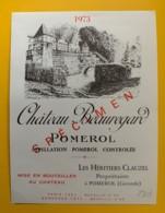 10230 - Château  Beauregard 1973  Pomerol Spécimen - Bordeaux