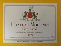 10232 - Château Moulinet 1978  Pomerol - Bordeaux