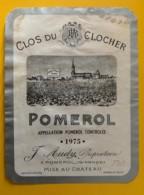 10240 - Clos Du Clocher 1975 Pomerol - Bordeaux