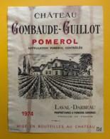 10242 - Château Gombaude-Guillot 1974  Pomerol - Bordeaux