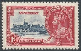 St Vincent. 1935 KGV Silver Jubilee. 1d MH. SG 142 - St.Vincent (...-1979)