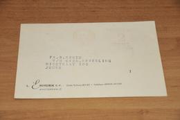 45-     BEDRIJFSKAART, L. EMMERIK C.V. - AMSTERDAM-C - 1952 - Kaarten