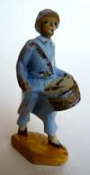 FIGURINE BEFFOID WWI POILU TAMBOUR CASQUE ADRIEN BLEU (2) - Figurillas