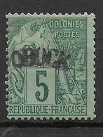 OBOCK - YVERT N° 4 * MH - SIGNE SCHELLER - COTE = 45 EUR. - Unused Stamps