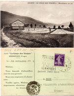 """GERARDMER -Société """"Le Linge Des Vosges"""" Blanchimednt Sur Pré - Carte Commerciale -Cachet Daguin (112291) - Gerardmer"""