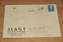 46-     BEDRIJFSKAART, SLAGT BOUWMATERIALEN - HILVERSUM - 1950 - Mappe