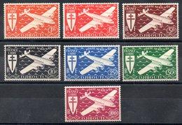 Côte Française Des Somalis Franz. Somaliküste Luftpost Y&T PA 1**, PA 2**, PA 3* - PA 10*, PA 11**, PA 12** - Französich-Somaliküste (1894-1967)
