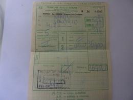 "Biglietto ""Ag. Viaggi GEMINI  WAGON LITS TURISMO DA NAPOLI A SONDRIO"" 1984 - Treni"