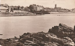 Friths Card Used 1925 Penzance Beach With Bathing Huts! - England