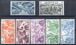 Côte Française Des Somalis Franz. Somaliküste Luftpost Y&T PA 13* - PA 19* (PA 18* Mit Zahnfehler) - Französich-Somaliküste (1894-1967)