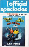 C 9)  L'Officiel Des Spectacles 1979   (150 Pages   Fmt B 5) - Cinema/Televisione