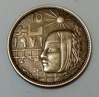 EGYPT - 5 Milliemes - Km 465 - 1977 - Corrective Revolution  - Agouz - Egitto