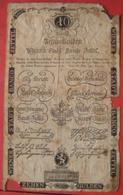 10 Gulden Wiener Stadt Banco-Zettel 1.6.1806 (WPM A39) - Austria