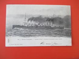 Marine Française JEANNE D' ARC Croiseur Cuirassé A Toute Vitesse - Dos Non Séparé - Voyagée En 1903 - Tbe - Oorlog