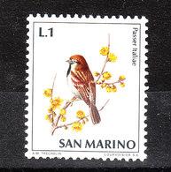 San Marino - 1972.Passero. Italian Sparrow. MNH - Moineaux