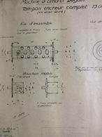 Croquis : Machine à Timbrer Daguin, Tampon Encreur (1948-21x25 Cm) - Máquinas