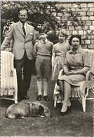Real Photo, H.M. The Queen With Her Family In Windsor Castle Gardens - Familles Royales