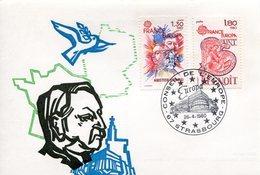 EUROPA CEPT FRANCE 1980 CARTE POSTALE N° YVERT 2085-2086 - Europa-CEPT