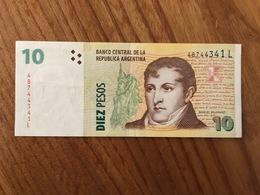 ARGENTINE 10 Pesos - P 354 - Serie L - AU - Très Légère Pliure - Argentine