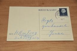 48-     BRIEFKAART,   WINKELIER H.R. DE JONG - SCHUREGA - 1954 - Kaarten