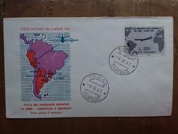 REPUBBLICA - Viaggio Gronchi In Perù 1961 - 205 Lire Su F.D.C. + Spese Postali - 1946-.. République