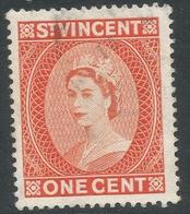 St Vincent. 1953-63 QEII. 1c Used. Mult Script CA W/M. SG 189 - St.Vincent (...-1979)