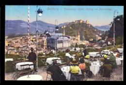 Salzburg - Restauration Elektr. Aufzug Am Monchsberg / Postcard Circulated, 2 Scans - Salzburg Stadt