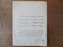 PARIS 19 FEVRIER 1925 MADEMOISELLE SUZANNE DE SAHUGUET D'AMARZIT AVEC LE COMTE DE BEAUMONT-BEYNAC BENEDICTION Mgr DE LA - Mariage