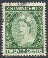 St Vincent. 1953-63 QEII. 20c Used. Mult Script CA W/M. SG 196 - St.Vincent (...-1979)