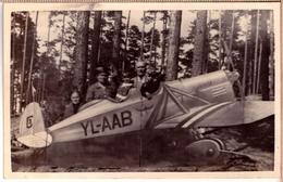 Latvia Child On Aeroplane, GAMBIJA, Studio Photo ~ 1930 - Fotografía
