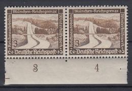 Dt. Reich 634y Unterrand Im Paar Winterhilfswerk Moderne Bauten 3+ 2 Pf  ** - Deutschland