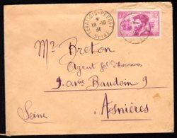 N° 296 Seul Sur Lettre (Jacques Cartier) - Levallois-Perret Du 18/10/34 - Poststempel (Briefe)