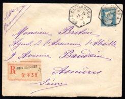 Lettre Recommandé N° 181 - Oblitération BOIS-COLOMBES A Du 19/12/30 - Postmark Collection (Covers)