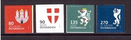 2018 Österreich 3409+3411+3412+3416 Postfrisch Heraldig Wappen Aus MH Graz Wien - 2011-... Nuovi & Linguelle