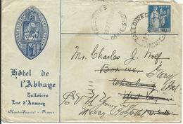 1932-33 - Type PAIX - N° 288 Obl.SEUL Sur Lettre - HOTEL DE L'ABBAYE TALLOIRES - France