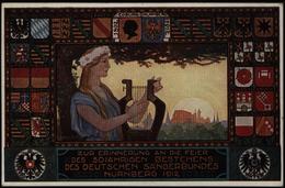 Bayern Privat - Ganzsache PP 27 C 61 05 Nürnberg Sängerbundfest Wappen Musik   - Bayern