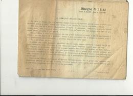 DISEGNO  N.  11.12  ARC. A  GARBI ING.  CALIARI-- 1-9-1930 - Technical Plans